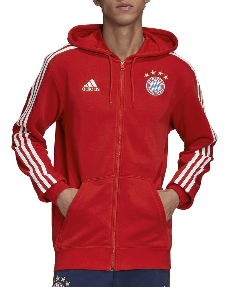 Bayern Monaco Adidas Giacca tuta felpa sportiva UOMO Rosso Cotone garzato 0