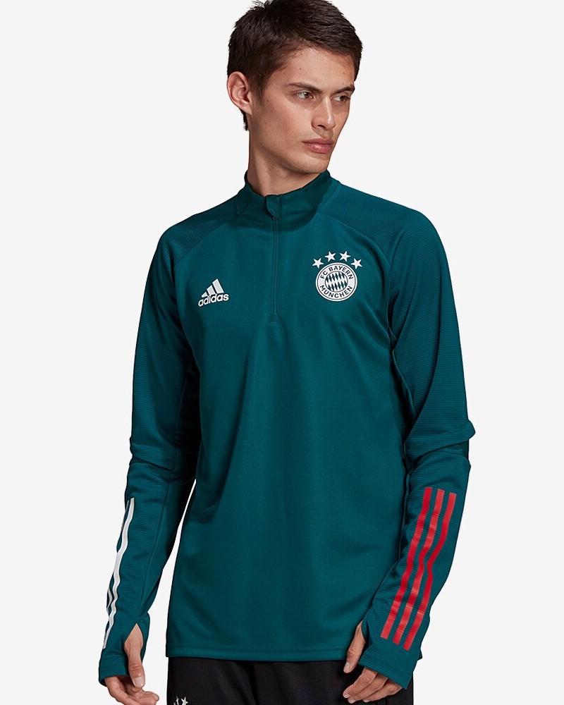 Bayern Monaco Adidas Felpa Allenamento Training Sweatshirt Verde UOMO 2021 0