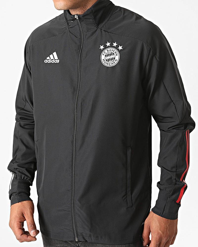 Bayern Monaco Adidas Giacca tuta rappresentanza 2020 21 UOMO Nero Presentation 0