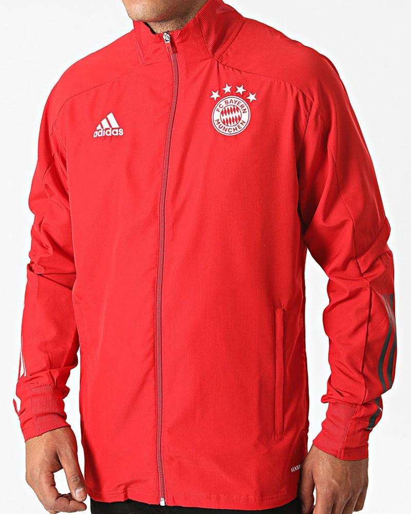 Bayern Monaco Adidas Giacca tuta rappresentanza 2020 21 Presentation UOMO Rosso 0