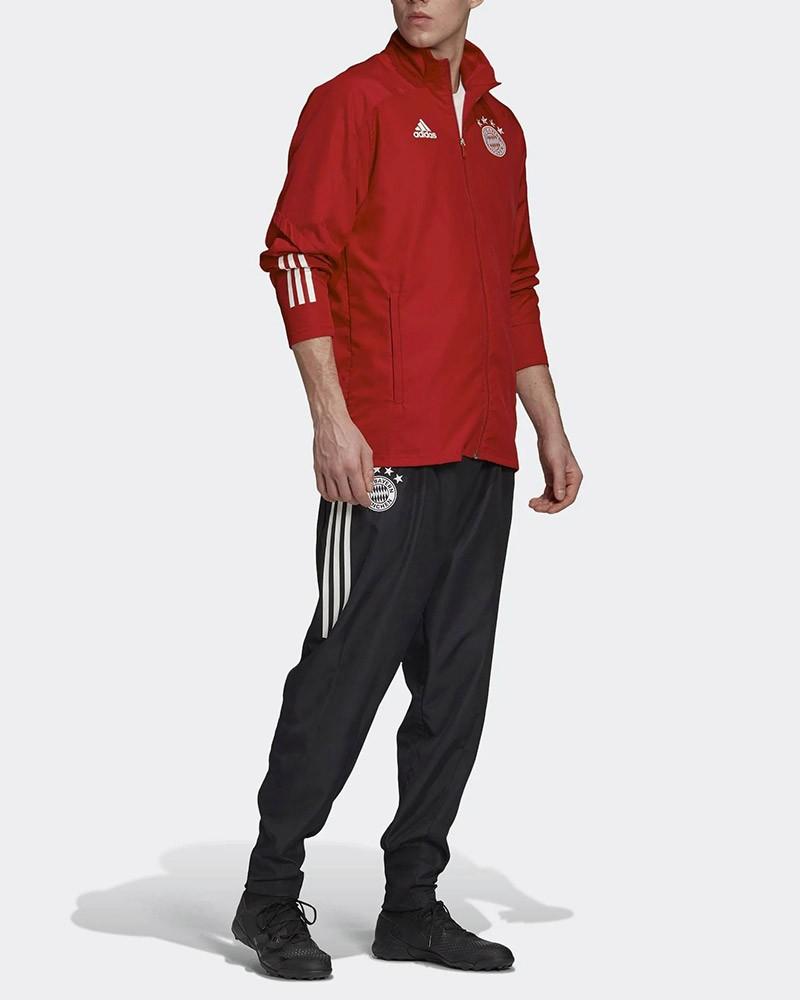 Bayern Monaco Adidas Tuta Rappresentanza UOMO Rosso 2020 2021 Presentation 0