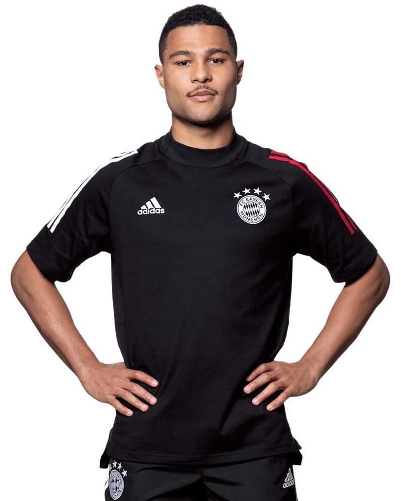 Bayern Monaco Adidas Maglia Allenamento Training UOMO Nero Cotone Tee 2020 21 0