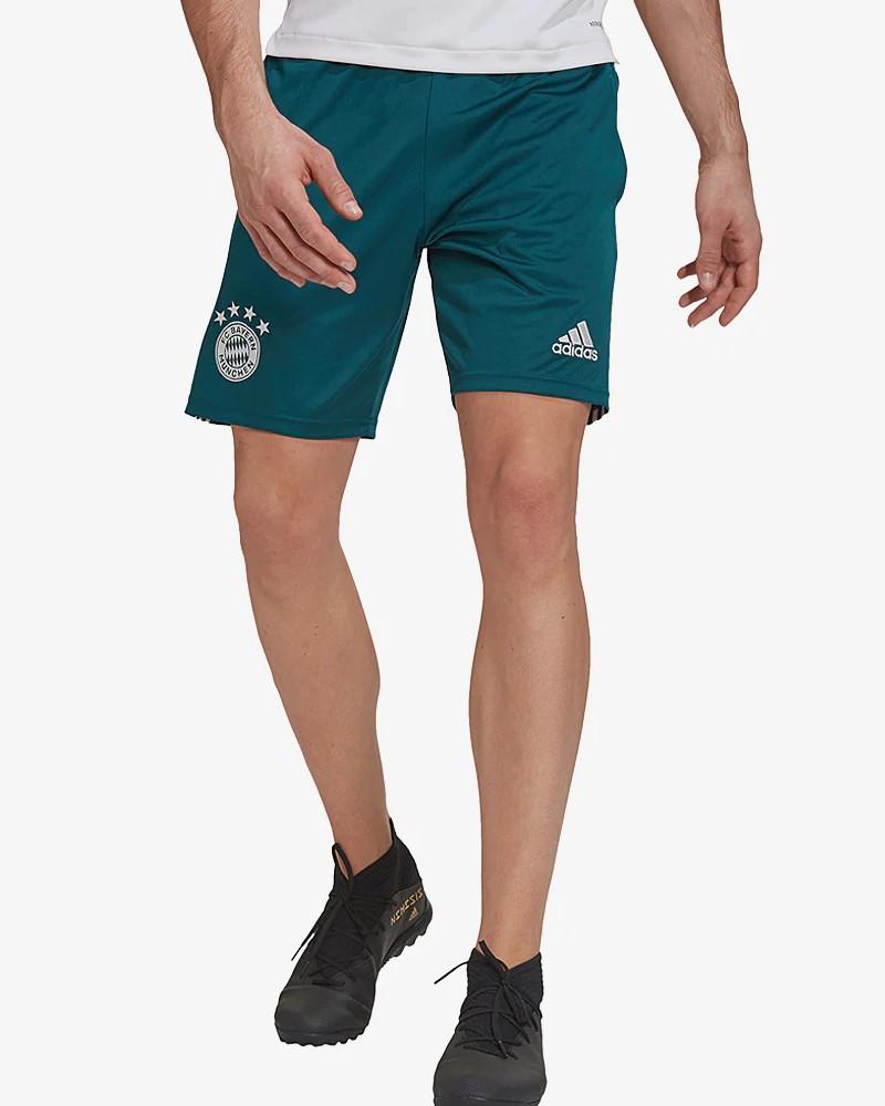 Bayern Monaco Adidas Pantaloncini Shorts UOMO Verde AEROREADY con TASCHE a ZIP 0
