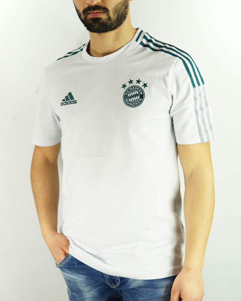 Bayern Monaco Adidas Maglia Allenamento Training UOMO Bianco Cotone AEROREADY 0
