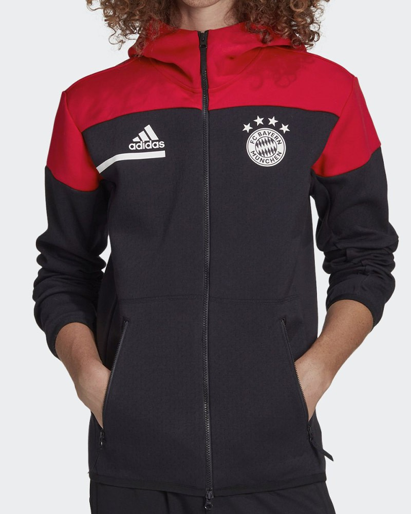 Bayern Monaco Adidas Giacca Tuta Pre gara pre match 2020 21 Anthem Zone Nero 0