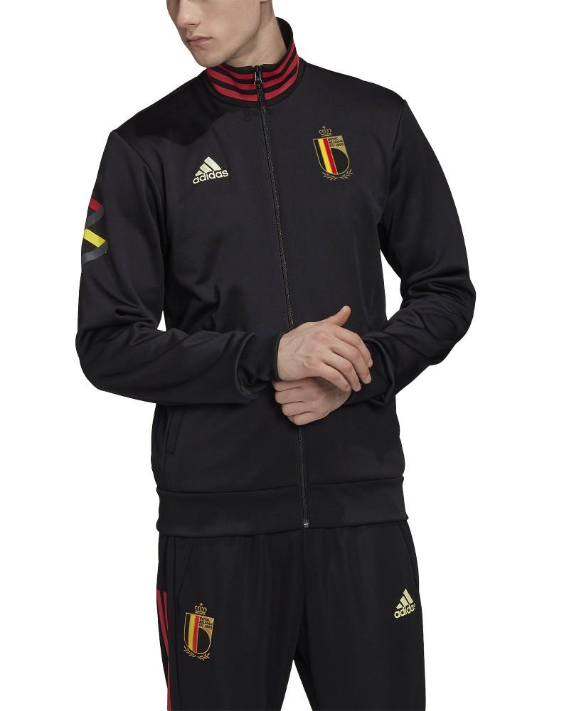 Belgio Belgium Belgique Adidas Giacca tuta sportiva EURO 2021 UOMO Nero 0