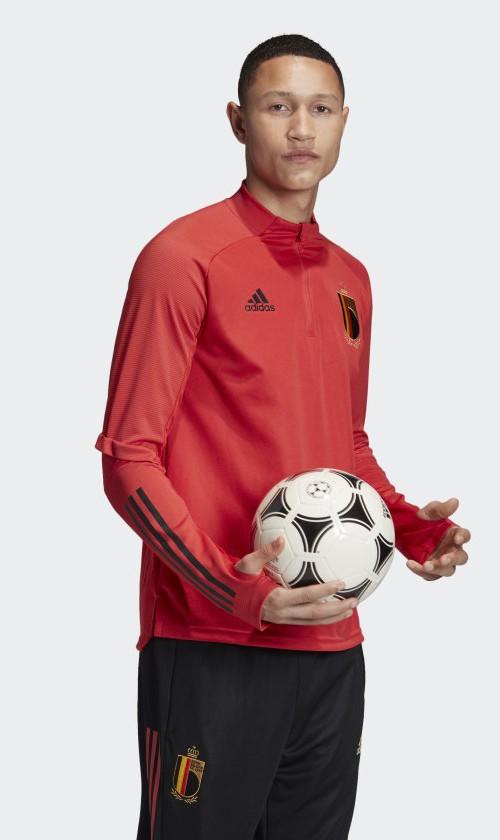 RBFA Belgio Belgium Adidas Felpa Allenamento Training Sweatshirt Rosso UOMO 0