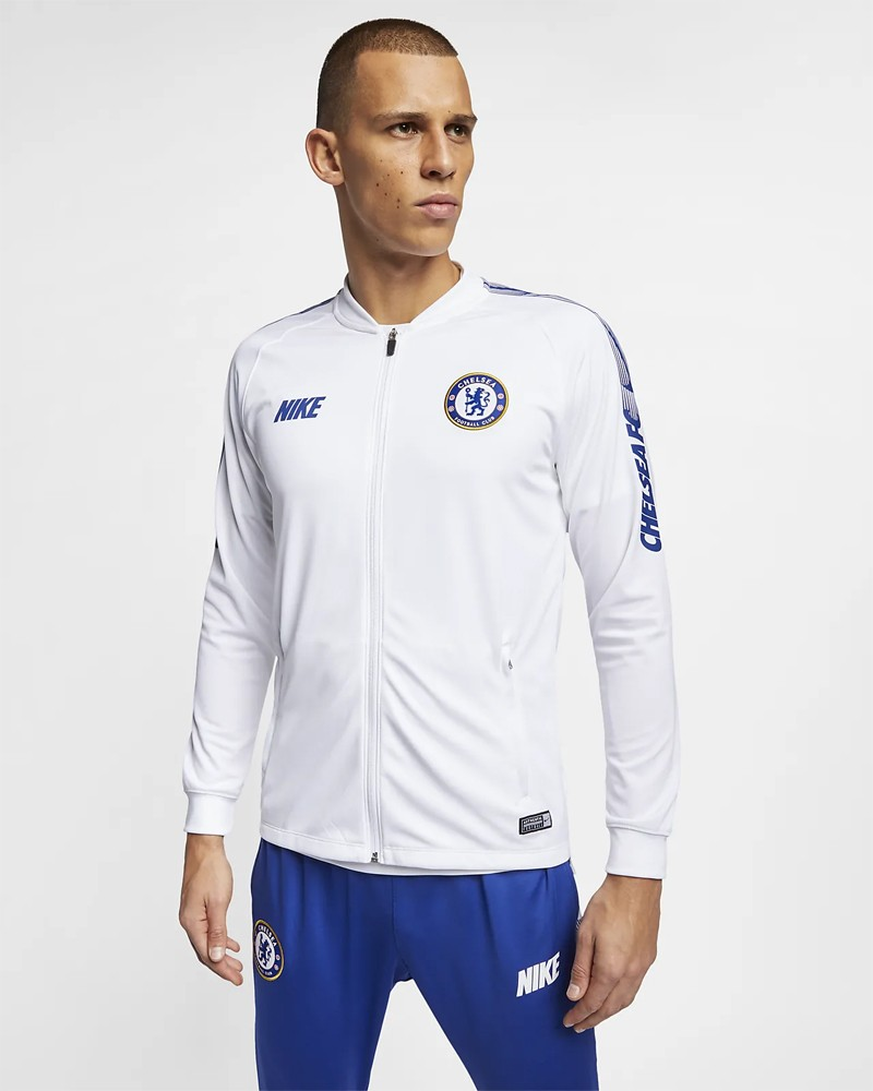 Chelsea Fc Nike Giacca Allenamento Training 2018 19 Bianco 0