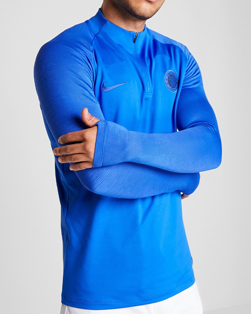 Chelsea Fc Nike Felpa Allenamento Drill Top Azzurro UOMO 2020 Mezza zip 0