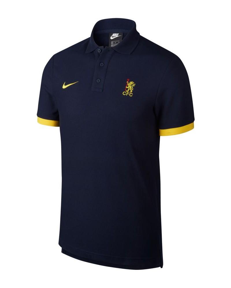 Chelsea Fc Nike core matchup Polo Maglia Uomo maniche corte Blu 2020 Cotone 0