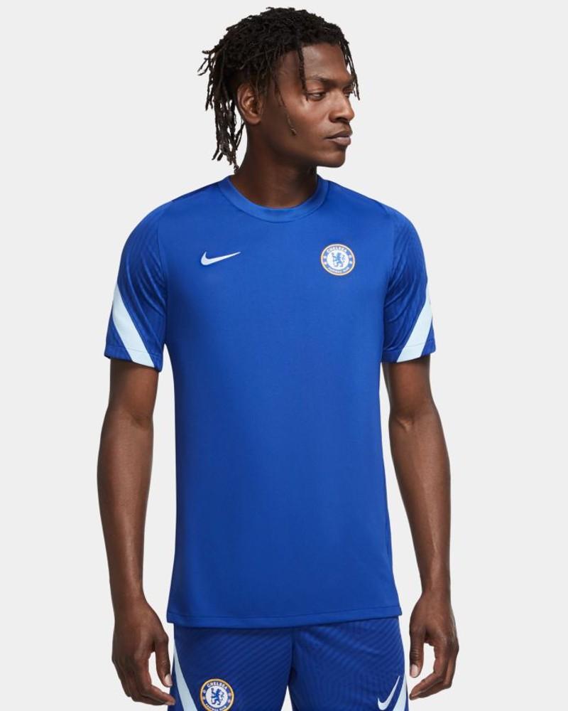Chelsea Fc Nike Maglia Allenamento Training UOMO Blu 2020 21 Breathe Strike Top 0