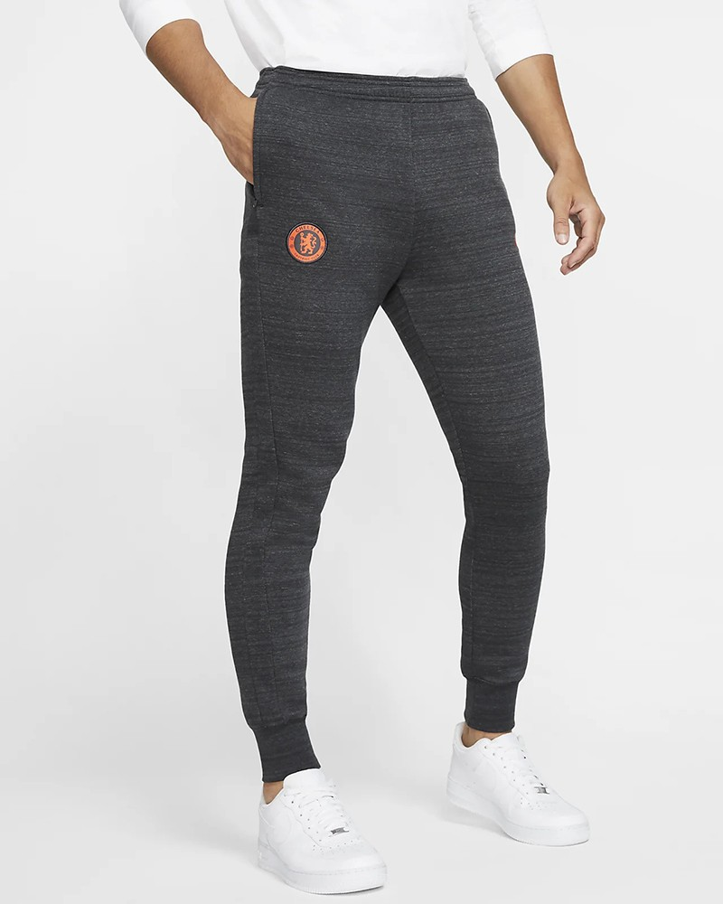 Chelsea Fc Nike Pantaloni tuta Pants 2019 20 Fleece sweat cuff Grigio cotone 0