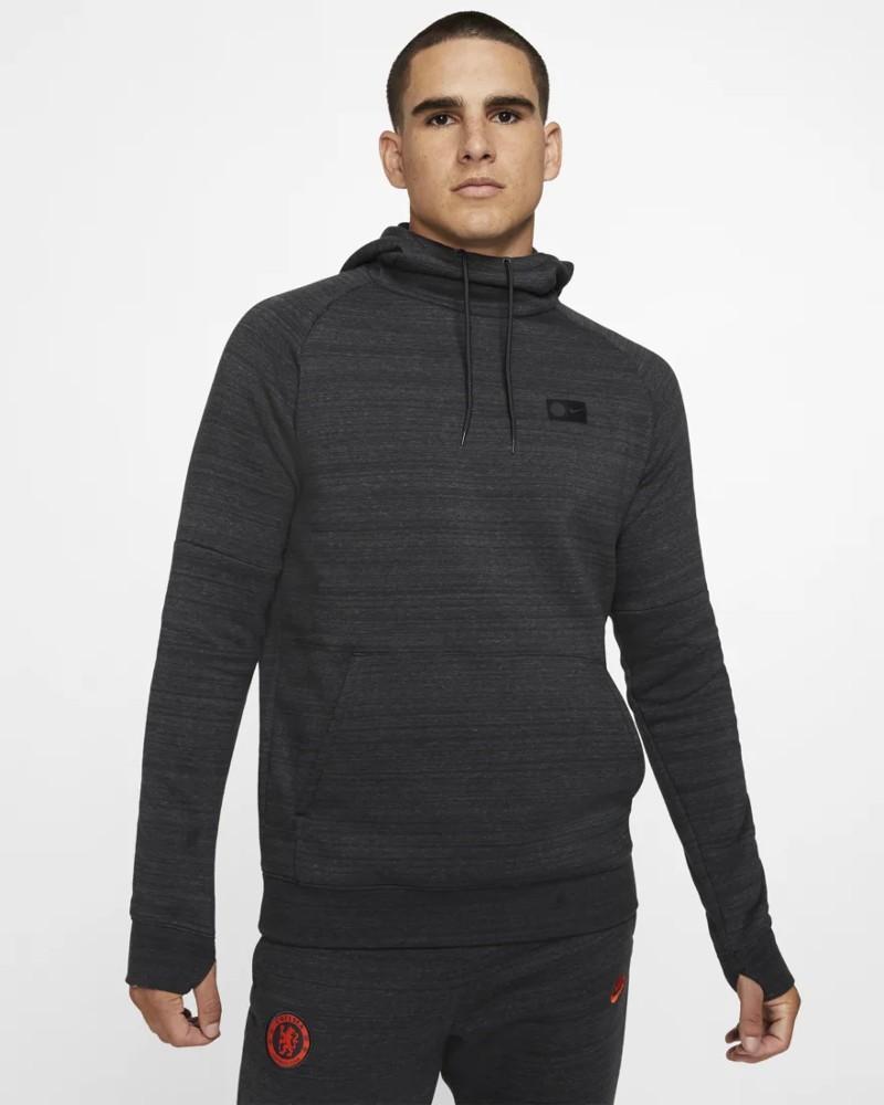 Chelsea Fc Nike Felpa Cappuccio Hoodie Uomo Pullover Sportswear 2019 20 Grigio 0