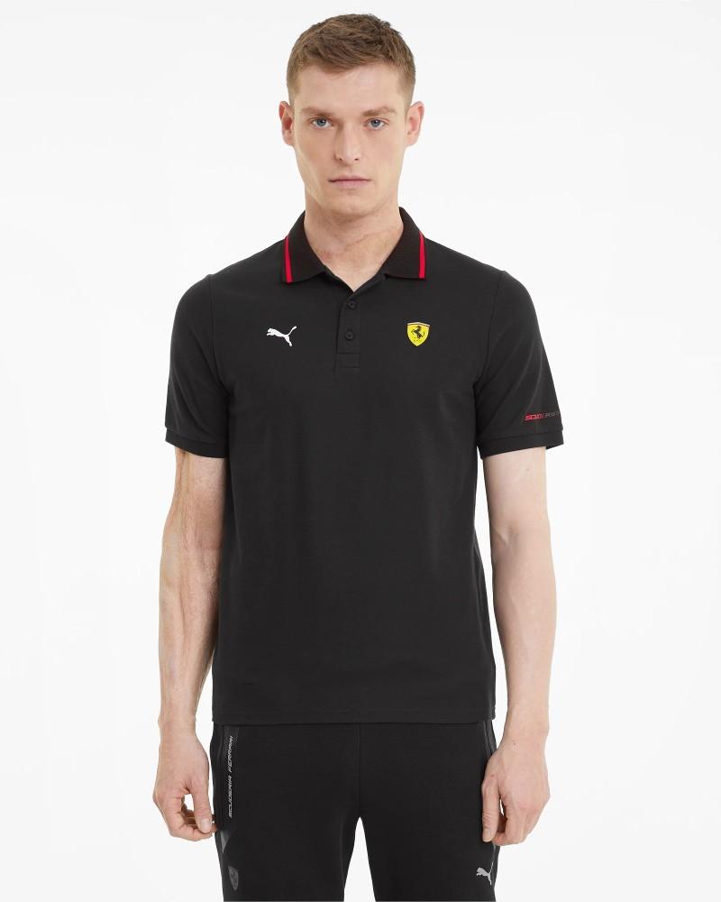 Ferrari RACE Puma Polo maglia maniche corte UOMO Nero Cotone 2021 0