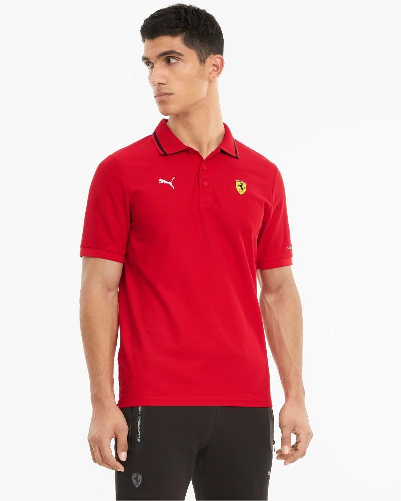 Ferrari RACE Puma Polo maglia maniche corte UOMO Rosso Cotone 2021 0