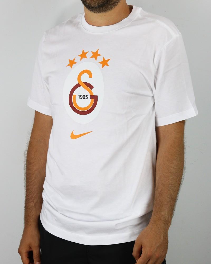 Galatasaray Nike Everygreen crest T-shirt Maglia maglietta UOMO Bianco Cotone 0