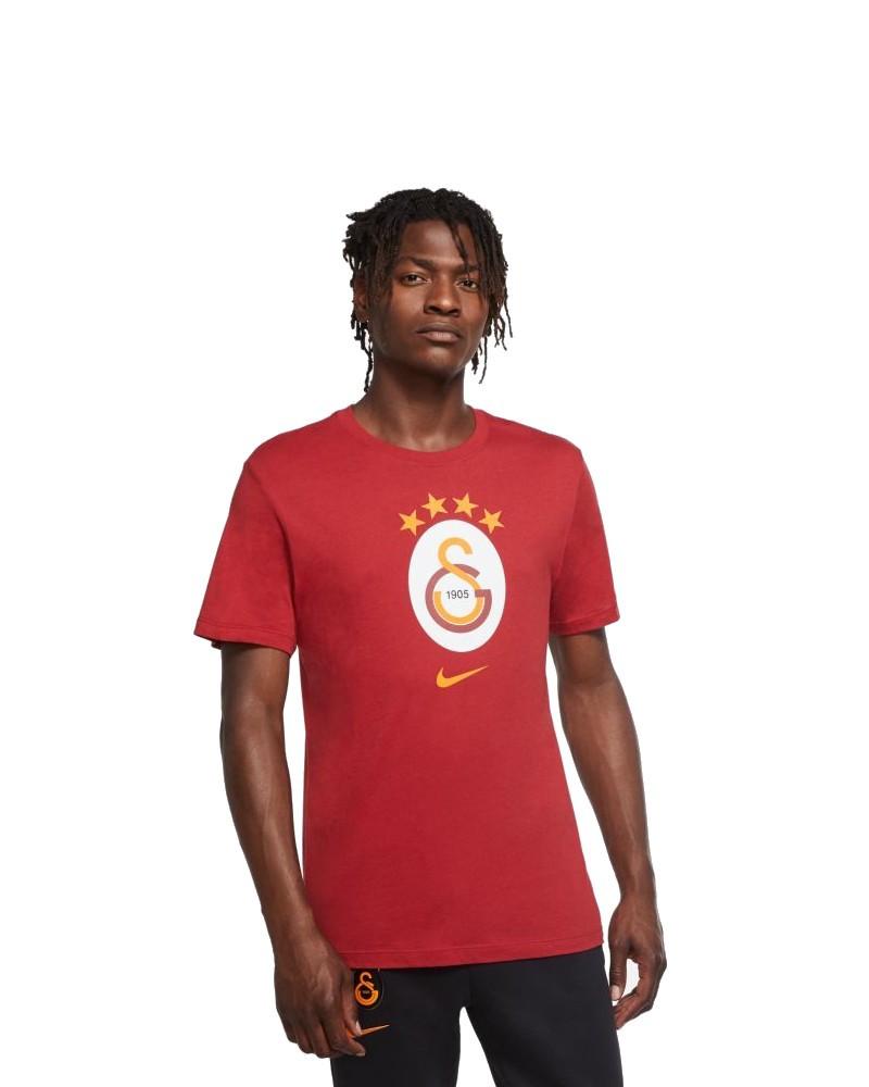 Galatasaray Nike Crest tee T-shirt Maglia Maglietta UOMO Rosso cotone 2020 21 0