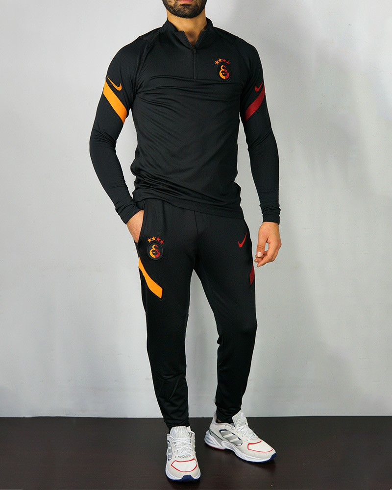 Galatasaray Nike Tuta Allenamento Training Mezza Zip UOMO Nero 2020/21 0