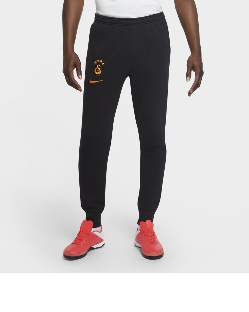 Galatasaray GS Nike Pantaloni tuta Pants 2020 21 Fleece Sweat Cuff Nero Cotone 0