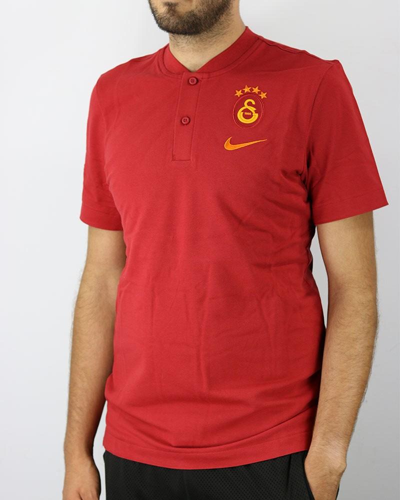Galatasaray Nike Polo Maglia modern gsp aut UOMO Rosso 2020 21 Cotone 0