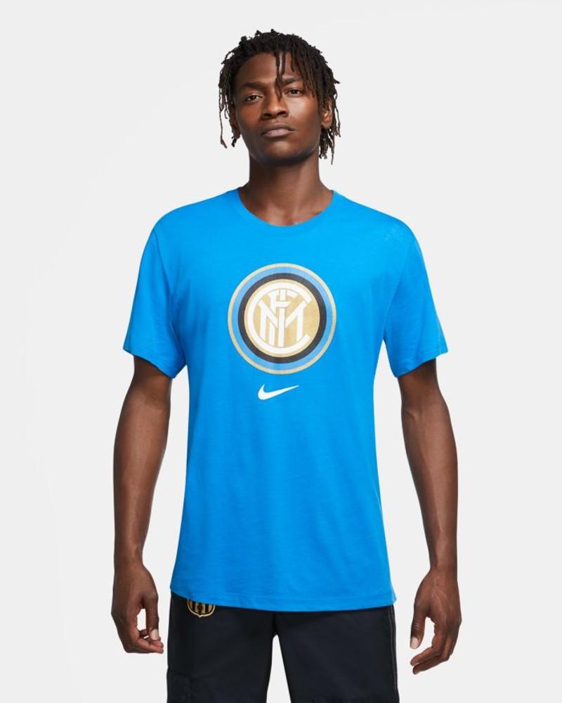 Inter fc Nike crest T-shirt maglia maglietta 2020 21 UOMO Azzurro cotone 0