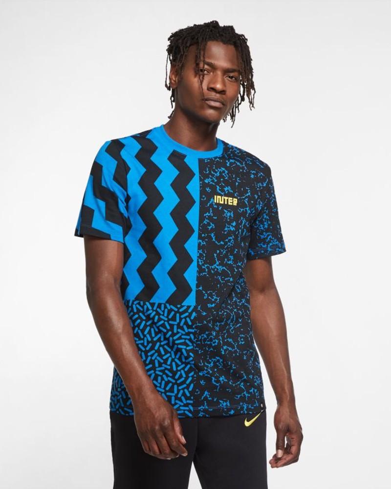Inter fc Nike ignite T-shirt Maglia Maglietta UOMO Blu Cotone 2020 21 0