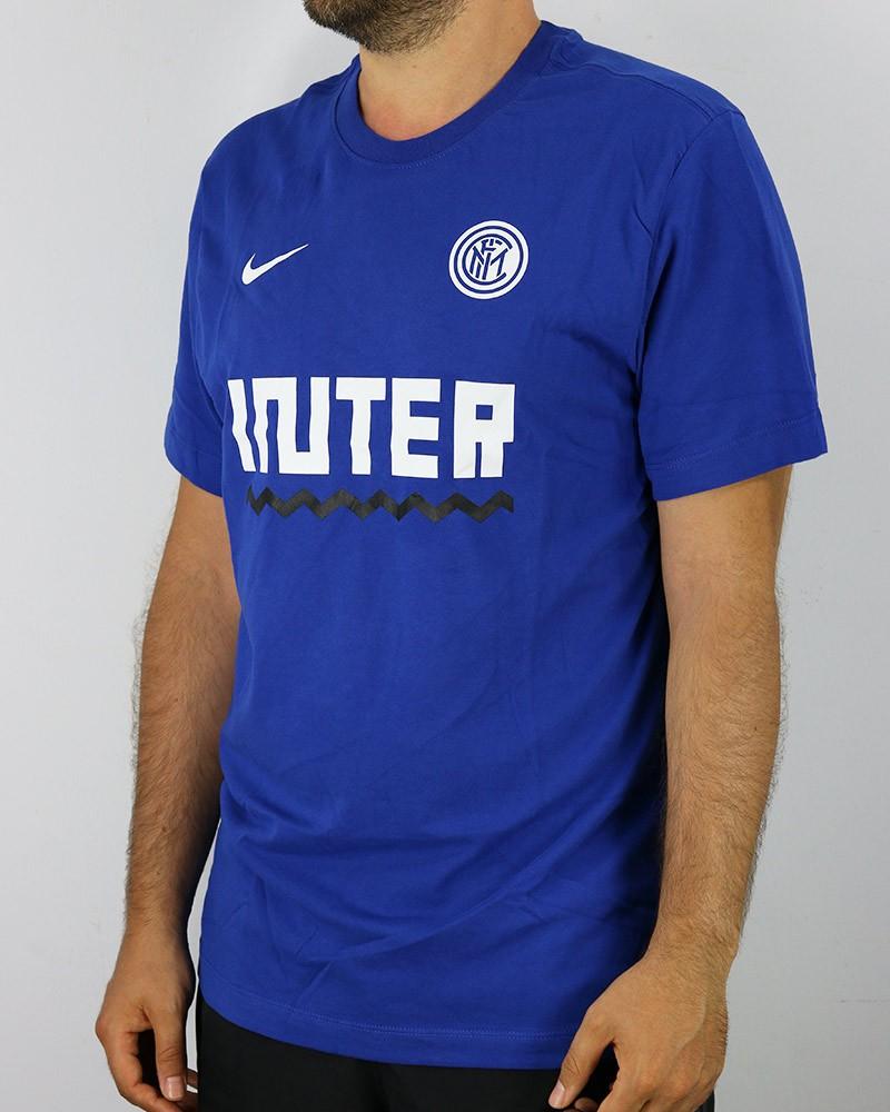 Inter fc Nike dry tee core match T-shirt Maglia Maglietta UOMO Blu Cotone 0