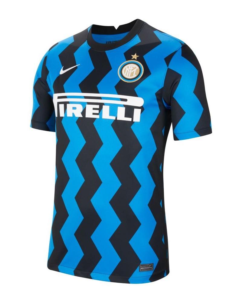 Inter fc Nike Stadium Home Maglia Calcio UOMO Nero Azzurro 2020 21 Home 0