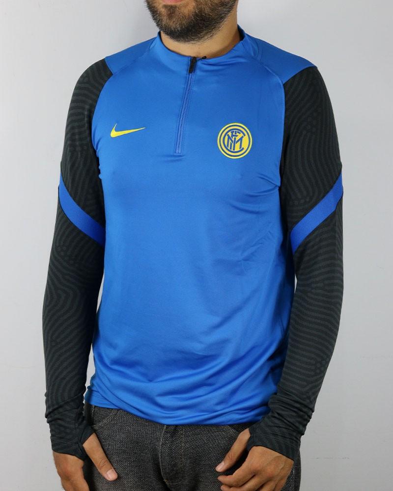 Inter fc Nike Drill Top Felpa Allenamento Training Sweatshirt Nero Azzurro UOMO 0