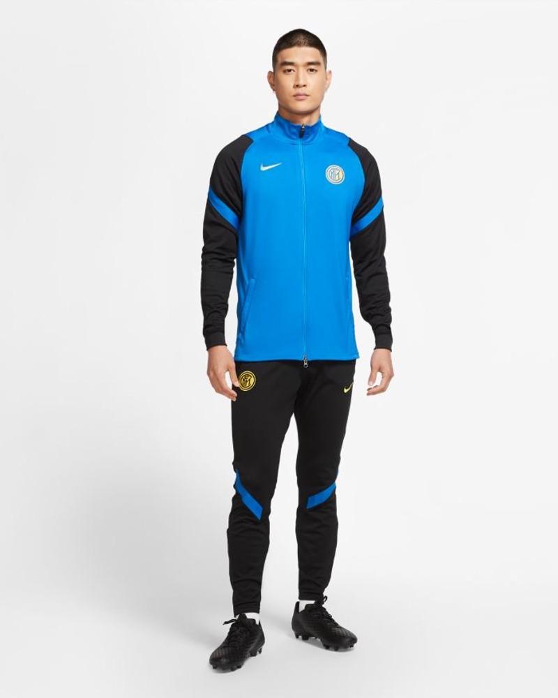 Inter fc Nike Tuta Allenamento Training UOMO Azzurro 100% poliestere Dri-Fit 0