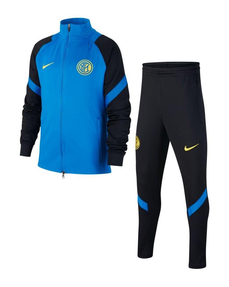 Inter fc Nike Tuta Allenamento Training 2020 21 Dry Strike Ragazzo Azzurro 0