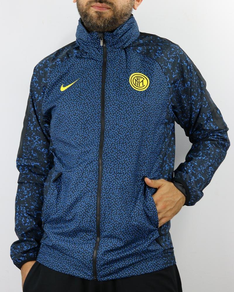 Inter fc Nike Academy AWF Giacca anti Vento Pioggia 2020 21 UOMO Blu 0