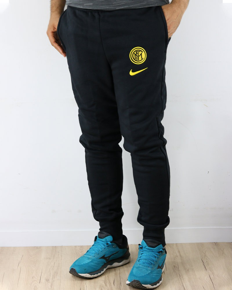 Inter fc Nike Pantaloni tuta Pants UOMO Nero Cotone 2020 21 Fleece Sweat Cuff 0