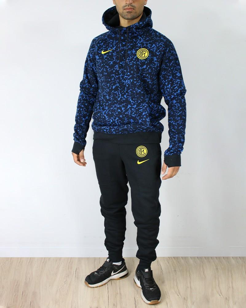 Inter fc Nike Tuta sportiva Sportswear 2020 21 cotone UOMO Nero Azzurro 0