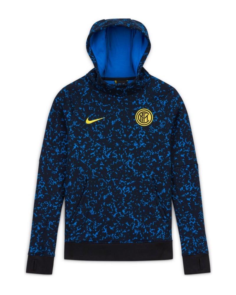 Inter fc Nike Felpa Cappuccio Hoodie Bambino Sportswear Graphic Fleece cotone 0