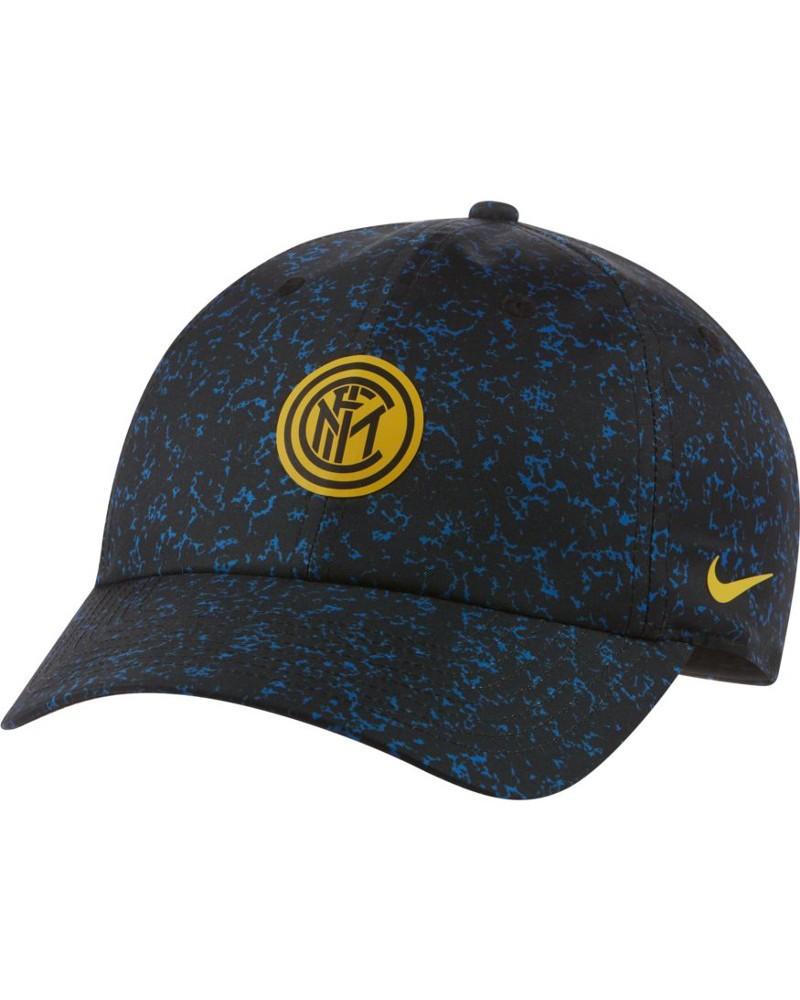 Inter fc Nike Cappello Berretto Unisex heritage 86 2020 21 Nero Azzurro 0