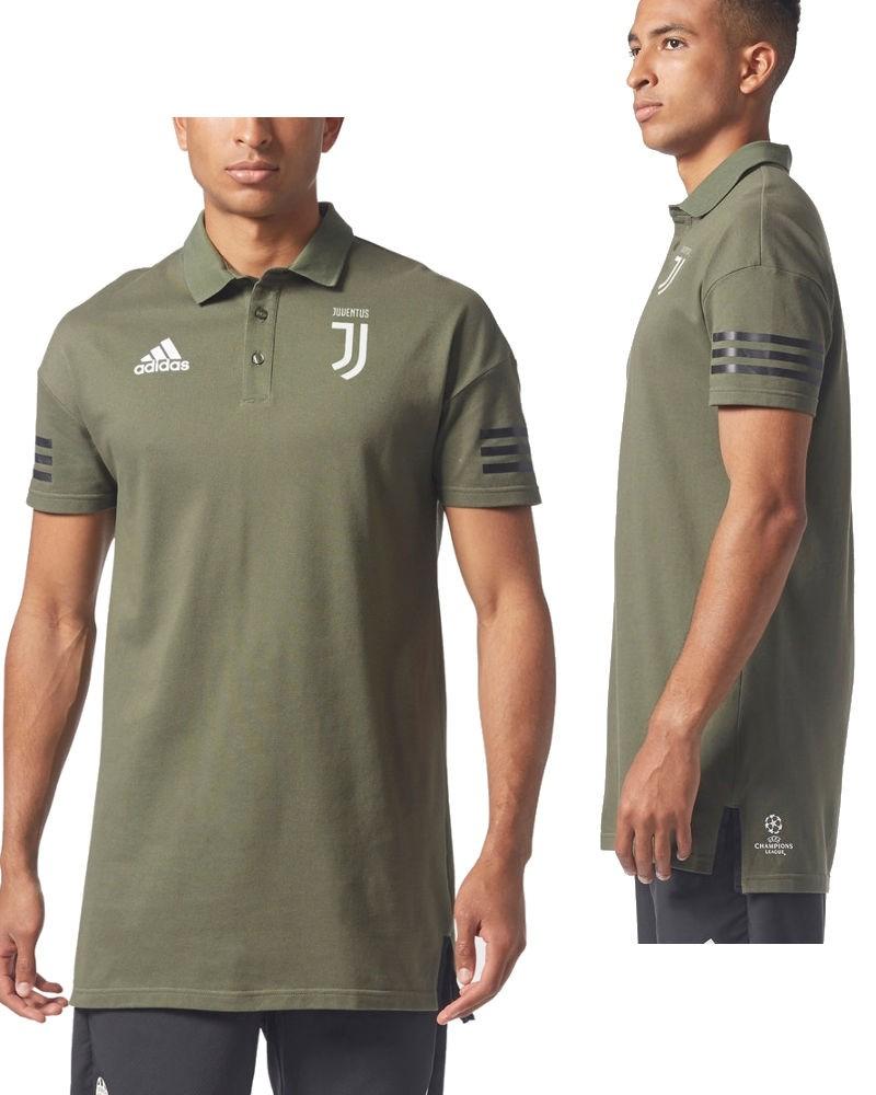 Juventus Adidas Polo Maglia Shirt Verde 2017 18 Uefa Uomo Cotone 0