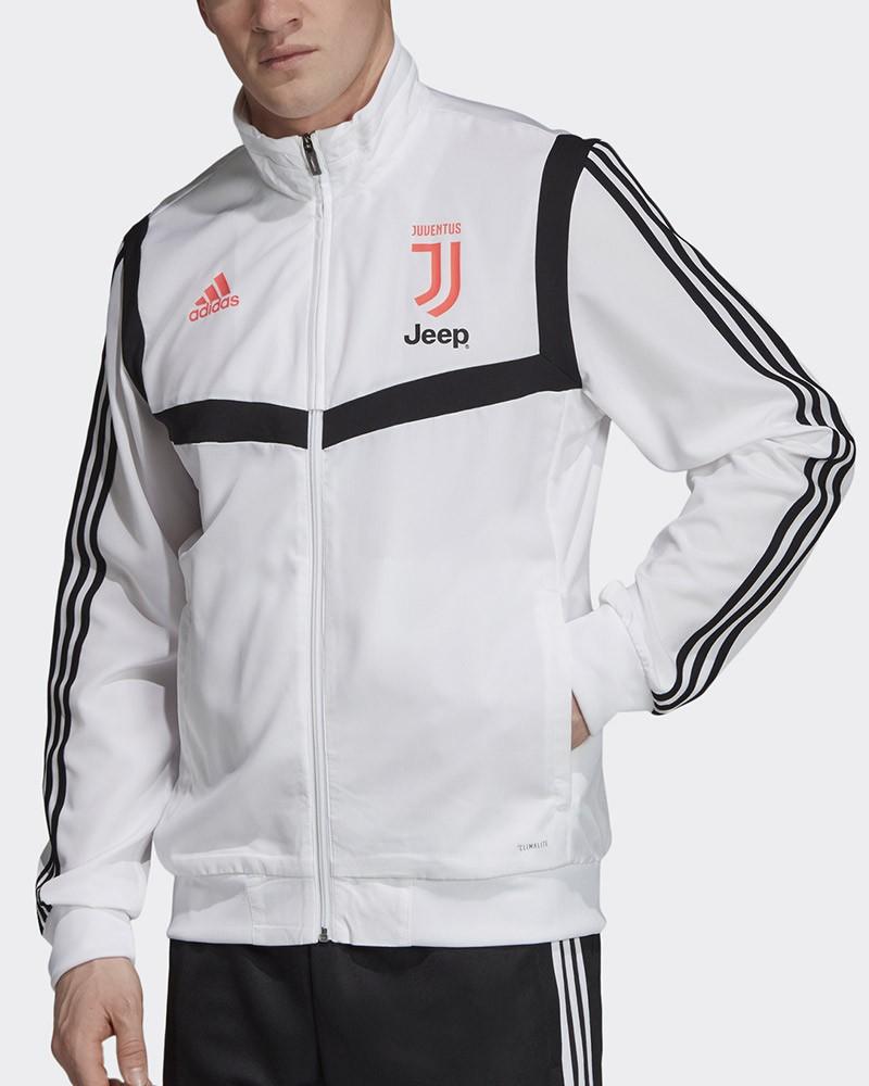 Juventus Fc Adidas Giacca Tuta Rappresentanza Jacket 2019 20 Uomo Bianco 0