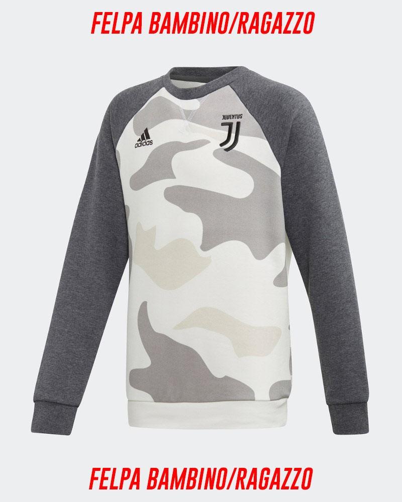 Juventus Adidas Felpa Sportiva Sweatshirt Camouflage Bambino 2019 20 0