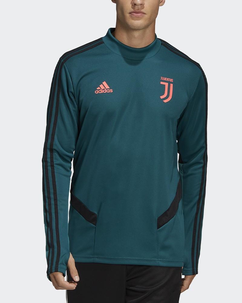 Juventus Adidas Felpa Allenamento Training Top Sweatshirt Verde Climacool Uomo 0