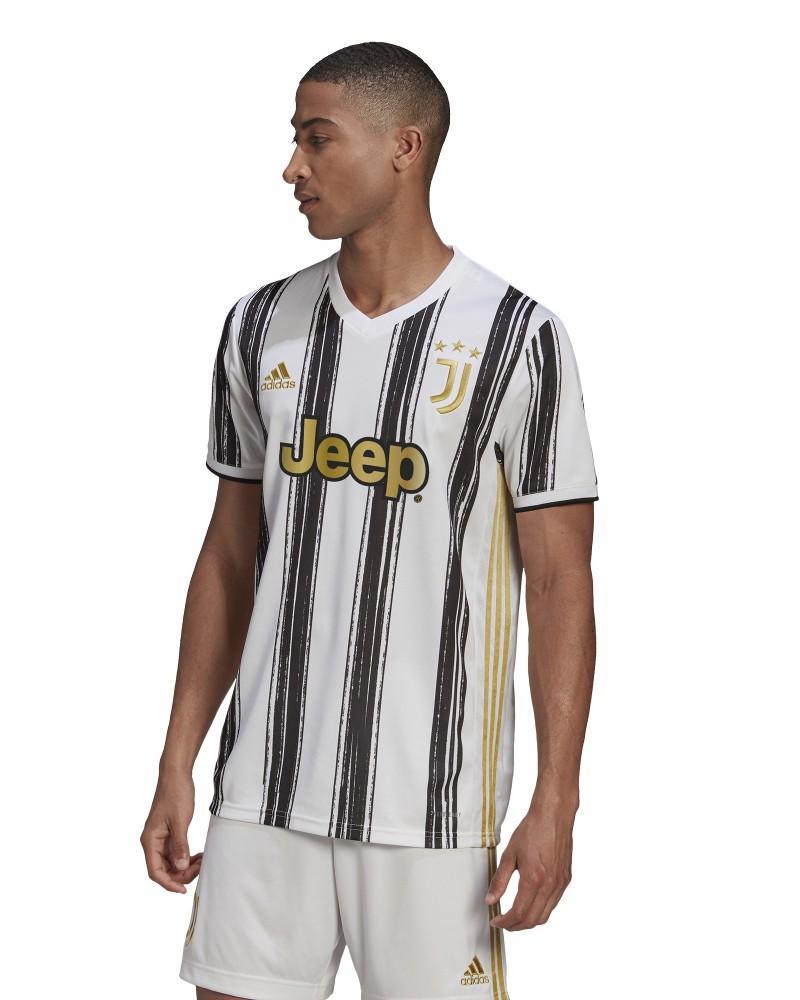 Juventus Adidas Maglia Calcio UOMO 2020 21 AEROREADY Home Bianco 0