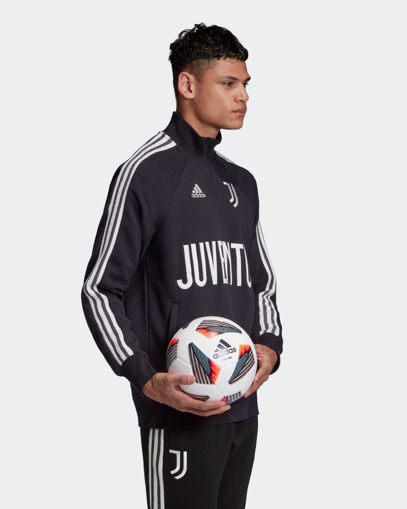 Juventus Adidas Felpa Sportiva pullover Nero UOMO 2020 21 cotone 0