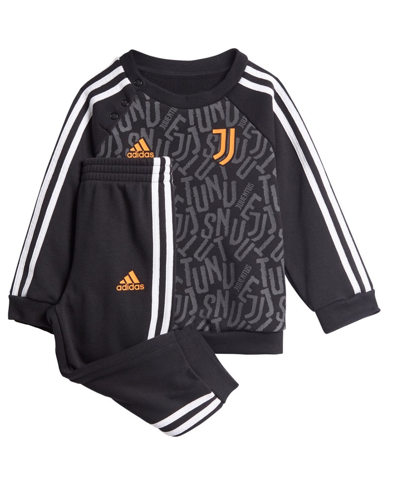 Juventus Adidas Tutina tuta kit completo 2020 21 Bambino neonato Nero Cotone 0