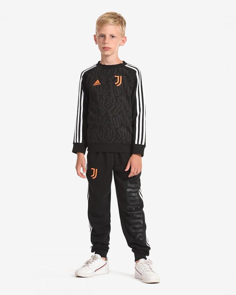 FC Juventus Adidas Tuta Allenamento Training Nero Bambino ragazzo 2020 21 0