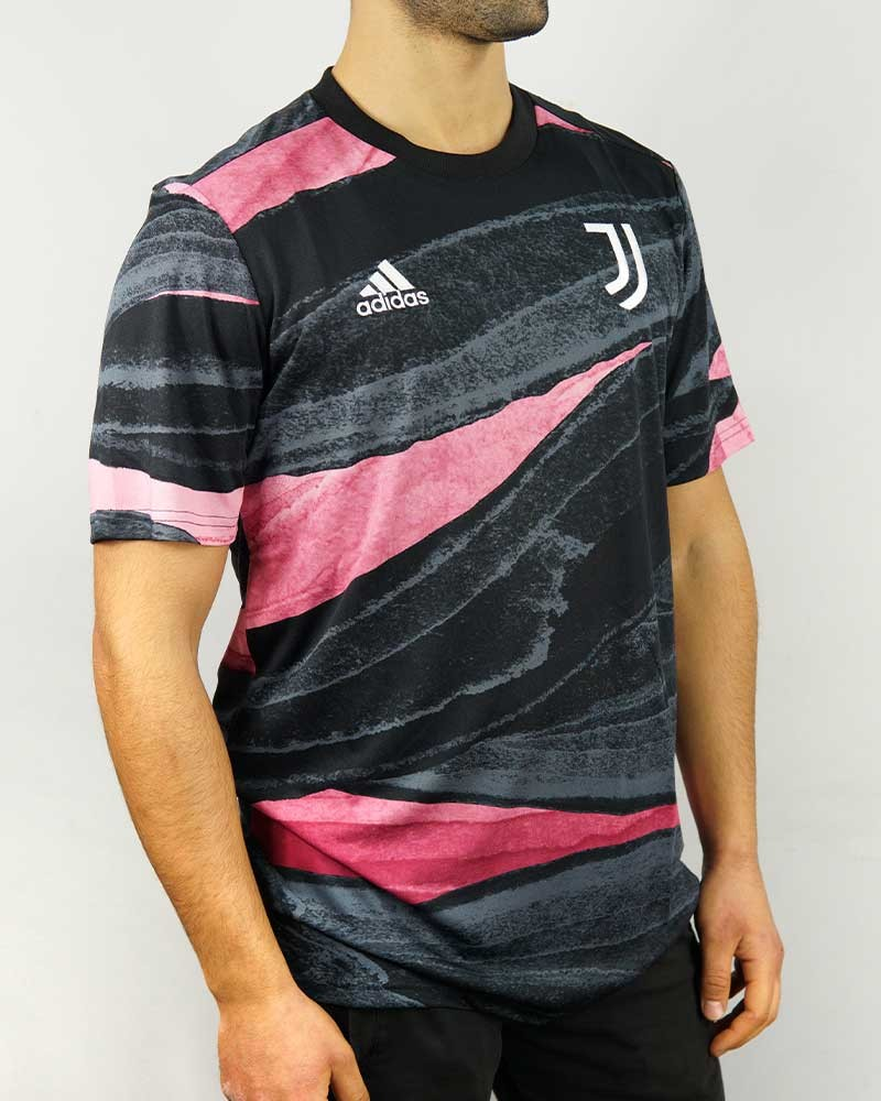 Juventus Adidas Maglia Allenamento Training Pre Match UOMO 2021 Rosa AEROREADY 0