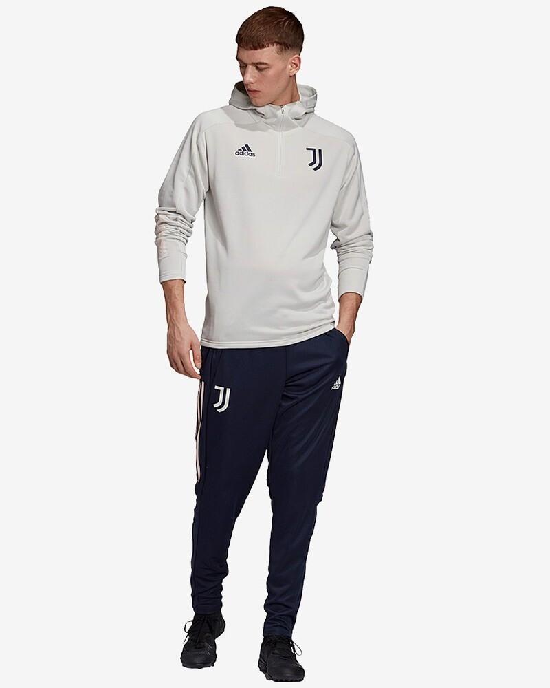Juventus Adidas Tuta Intera Allenamento Training 2020 21 Hoodie UOMO Bianco 0