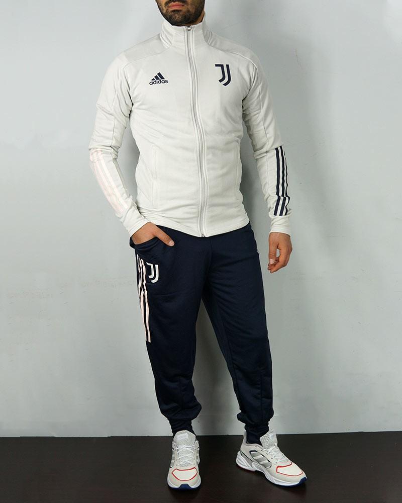 Juventus Adidas Tuta Allenamento Training UOMO Bianco 2020 21 con TASCHE a ZIP 0