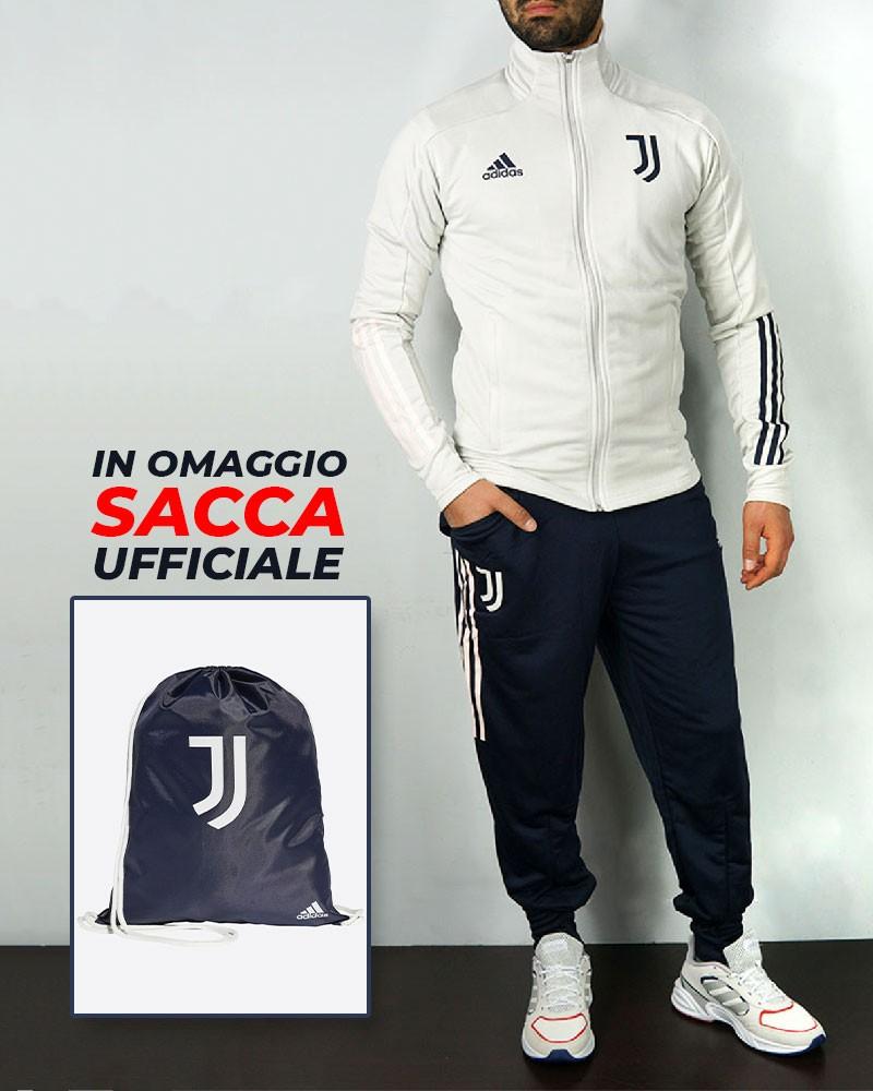Juventus Adidas Tuta Allenamento UOMO Bianco 2020/21 + SACCA IN OMAGGIO 0