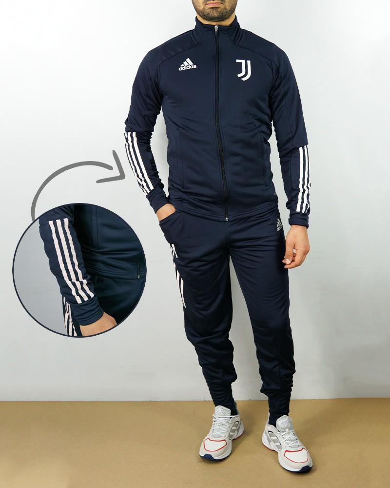 Juventus Adidas Tuta Allenamento Training 2020 21 UOMO Blu apertura Full zip 0