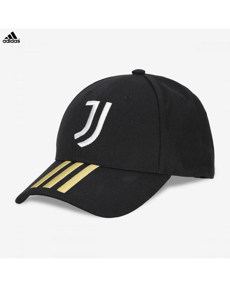 Juventus Adidas Cappello Berretto UOMO Nero 3S Baseball Cotone 0